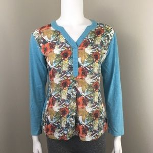 NorthStyle Long Sleeve Shirt Small Floral